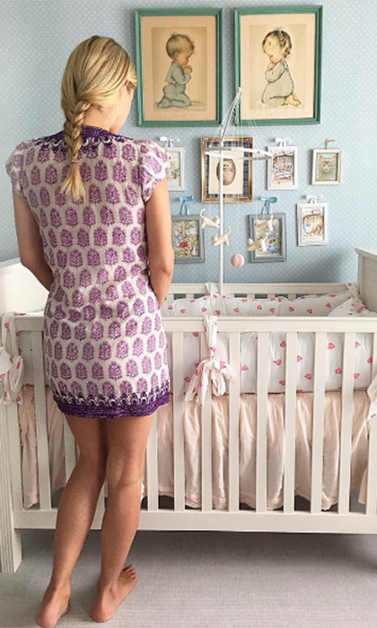 The new mom gave fans a glimpse of her baby's sweet nursery.