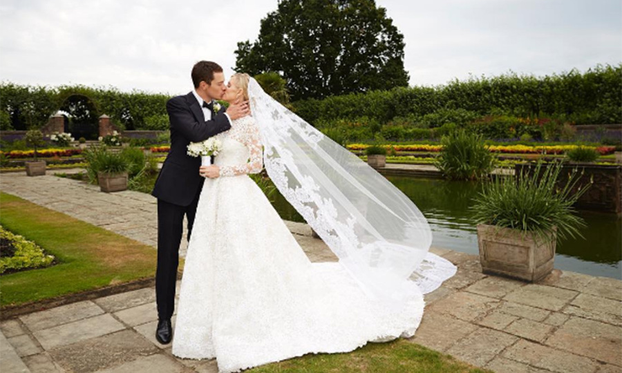 James Rothschild and Nicky married at Kensington Palace in July 2015.