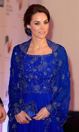 Kate's appearance at the Bollywood gala was hotly anticipated. And the royal far from disappointed, dazzling in a royal blue gown by her favourite designer Jenny Packham.