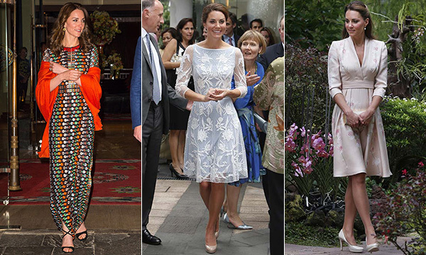Everywhere the Duchess of Cambridge goes she makes a stylish impression. Here, we round up her best fashion moments from royal tours around the world.
