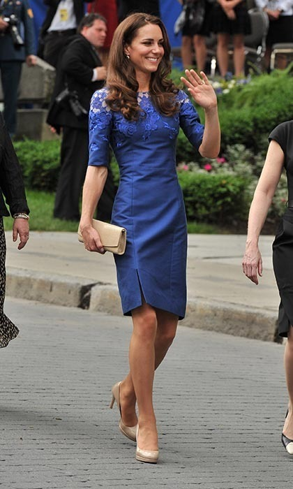 Kate dazzled in Erdem at the Freedom of the City Ceremony outside City Hall in Quebec City. 