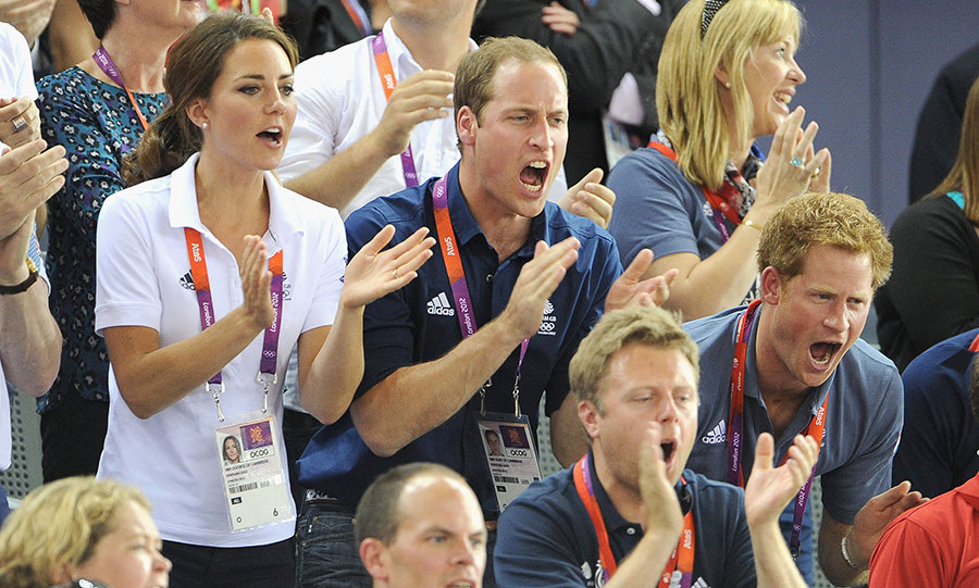 <h4>Prince William, Kate and Prince Harry