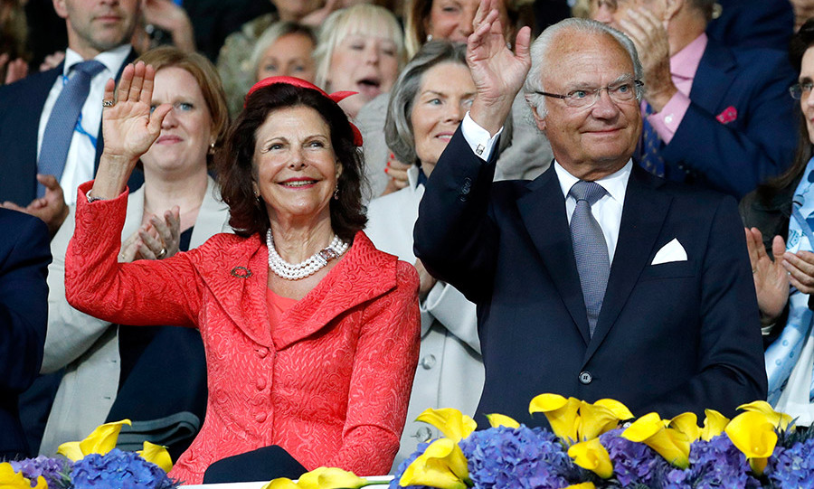 <h4>Queen Silvia and King Carl XVI Gustaf of Sweden