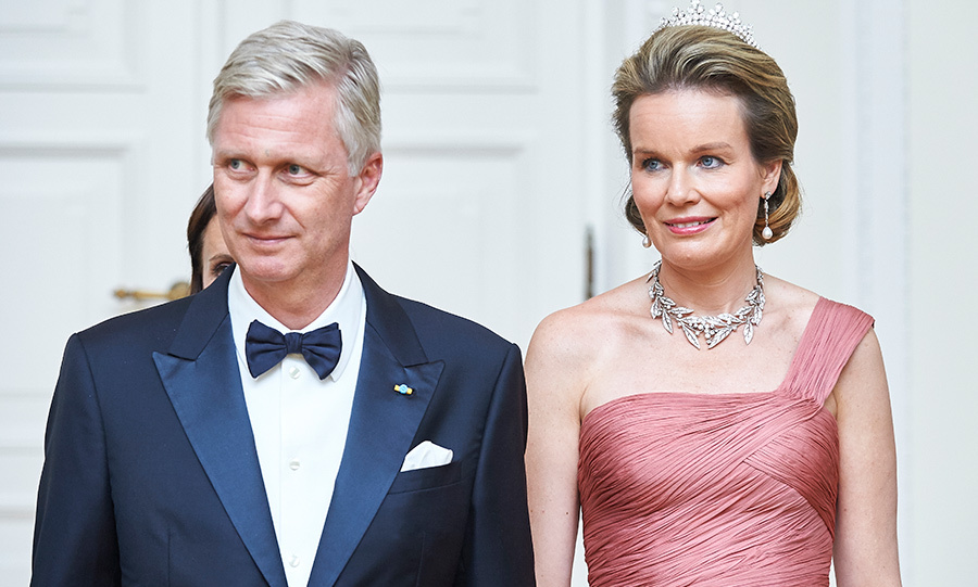 <h4>Queen Mathilde and King Philippe of Belgium