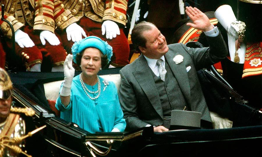 Queen Elizabeth travelled from the cathedral to the palace with her new in-law, Earl Spencer, after the lavish ceremony.