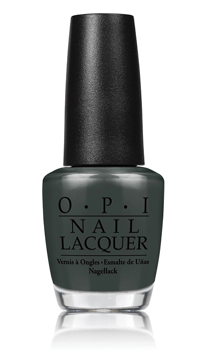 "<p><b>O.P.I Nail Lacquer in ""Liv"" in the Gray, $13, at <a href=""http://www.chatters.com"" target=""_blank"">chatters.com</a></b></p>