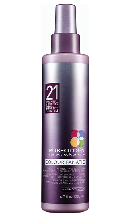 "<p><b>Pureology Colour Fanatic Multi-Tasking Beautifier, $28, at select salons and <a href=""http://www.pureology.com"" target=""_blank"">pureology.com</a></b></p>
