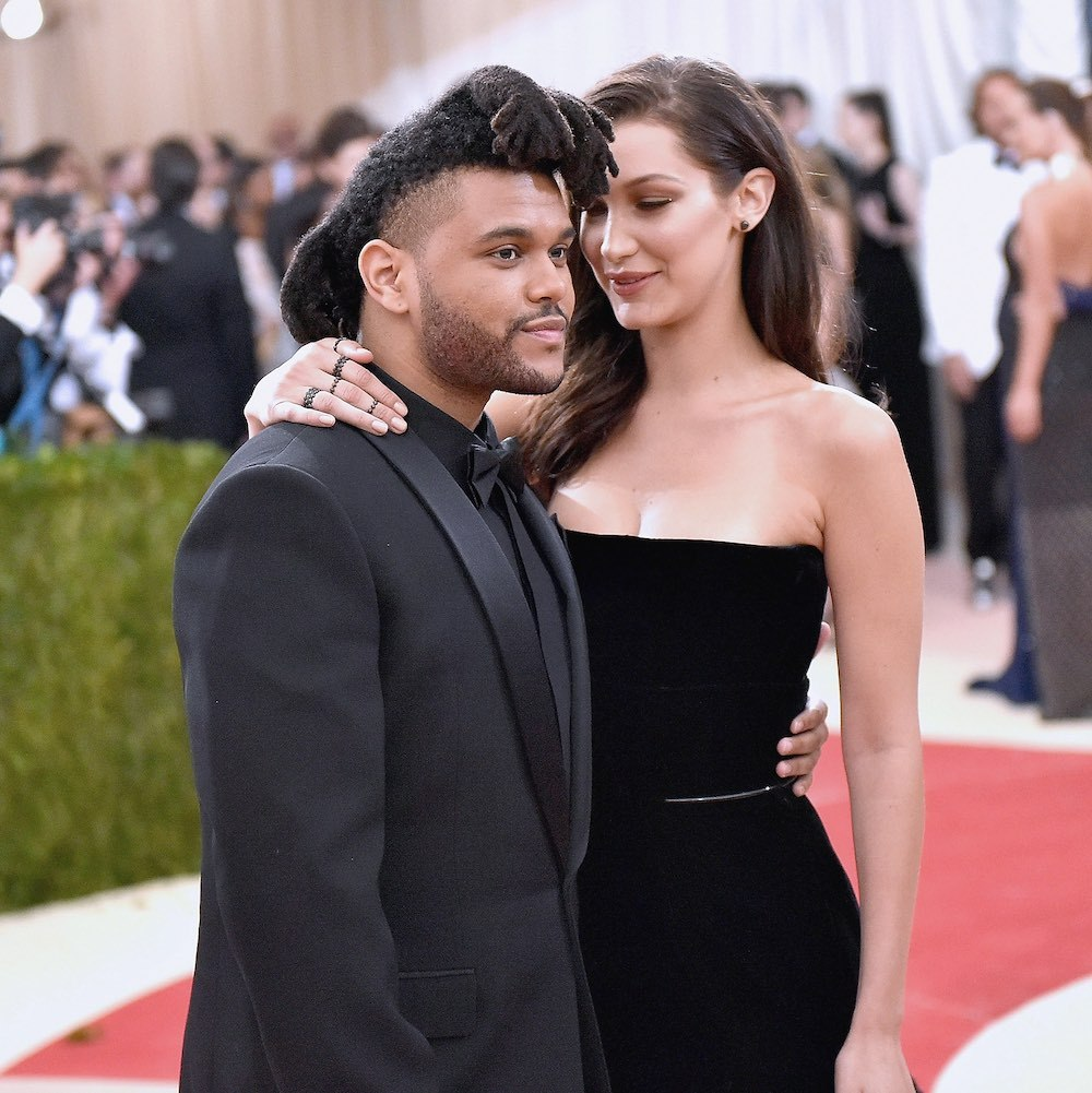 The Weeknd and Bella at the 2016 Met Gala. 