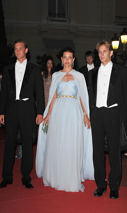 <p>After the ceremony installing the new princess of Monaco, the stunning brunette, who was elegantly dressed as always in Giambattista Valli couture, helped host 450 VIPs in lavish style at the Opera House.