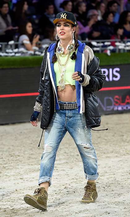 <p>At the annual Gucci Paris Masters, Charlotte brings together her two passions - horse riding and fashion - while never failing to show off her fun side.
