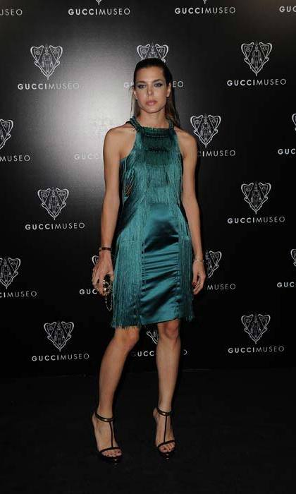 Smouldering in a silky emerald gown as she attended the Gucci Museum in Florence, Italy in September 2011.