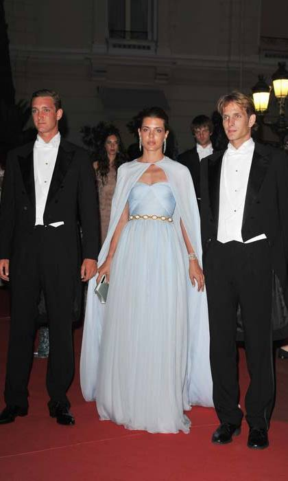 Absolutely showstopping in powder blue as she attended the religious wedding ceremony of Prince Albert and Princess Charlene of Monaco on in 2011.