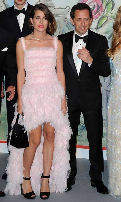 It was all eyes on Charlotte as she attended the Rose Ball wearing this frothy pink confection in 2013.