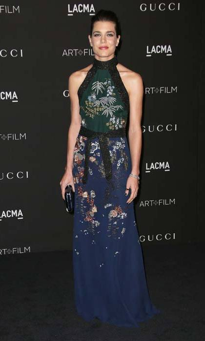 Charlotte has been working with Gucci for years, and nearly always chooses the Italian brand when it comes to red carpet dressing. 