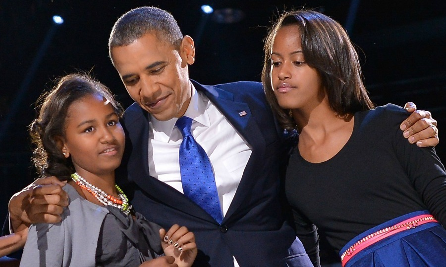2012: President Obama hugged both of his daughters on election night while celebrating the announcement of his second presidential term.