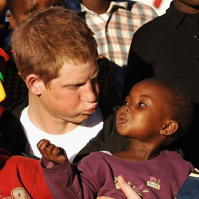 Prince Harry clowned around with Lintle at the Mants'ase Children's Home while visiting Africa in 2006 to launch his charity Sentebale.