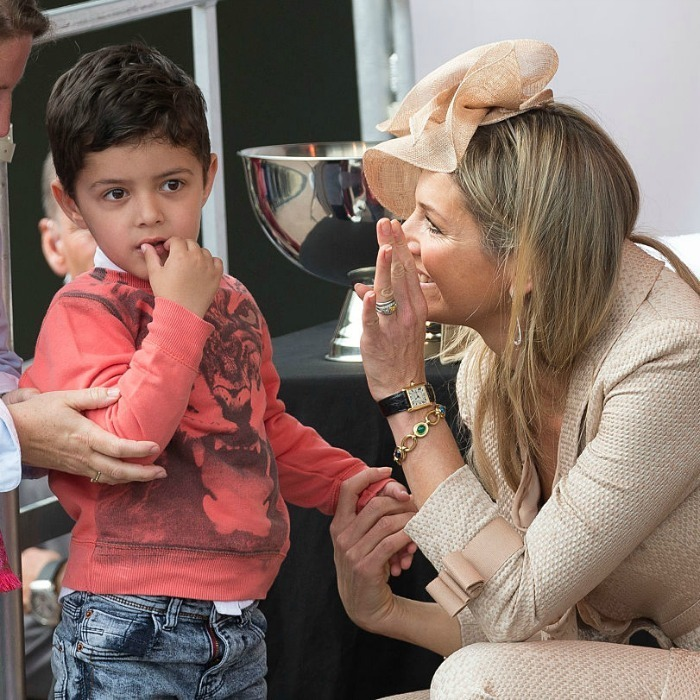 Don't leave Her Majesty hanging! Queen Maxima went in for a high-five with a little boy at the opening of the Koninklijke Kentalis diagnostic care education center in Zoetermeer, Netherlands. 