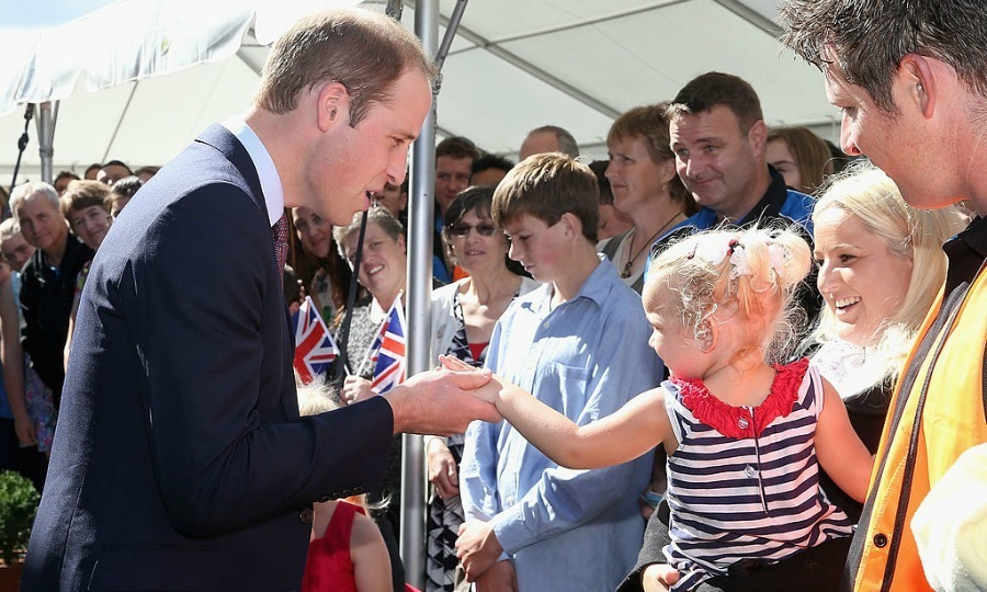 Enchanted to meet you! Prince William appeared to be won over by a little girl at the Pacific Aerospace in Hamilton, New Zealand. 
