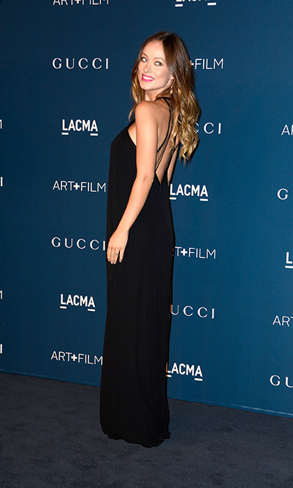 Early in her first pregnancy, Olivia looked a style goddess in Gucci at the 2013 LACMA Art + Film Gala honouring Martin Scorsese and David Hockney. 