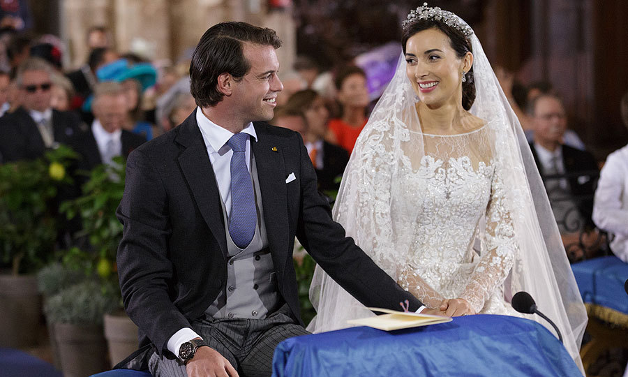 <p>The couple's joy was clear for the world to see during their religious ceremony.