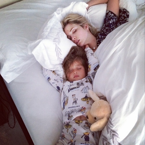 Jared Kushner snapped this photo of his wife and daughter sleeping before Arabella's third birthday, when the excited bday girl ended up in her parents' bed.