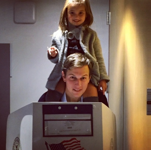 Ivanka and Jared taught their daughter the importance of voting.