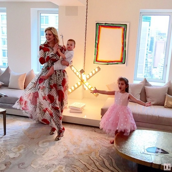 "The whole family got in on the action during Ivanka's <em>Vogue</em> photo shoot at her apartment. ""Arabella—and her Broadway-worthy rendition of ""Let It Go""—totally upstaged me at my @voguemagazine photoshoot,"" she wrote.