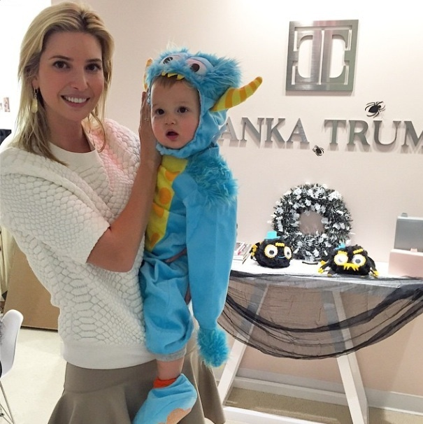 "Ivanka brought her ""little monster"" into work with her on Halloween.