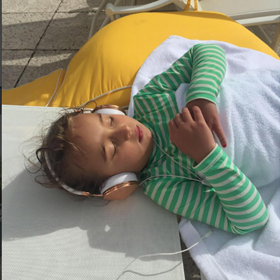 Ivanka snapped this picture of Arabella soaking up some sun and catching some zzzz during a family vacation.