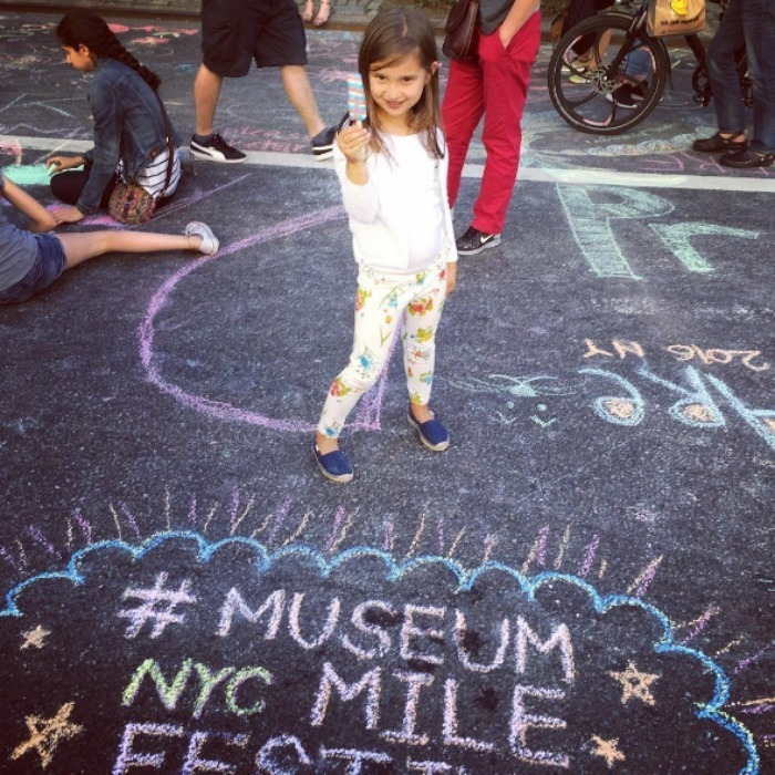 "Ivanka enjoyed a New York summer day with her daughter Arabella at the Museum Mile Festival. Sharing a photo of her little girl snacking on a pop, she penned ""Chalk art and Popsicles in the middle of Fifth Avenue! #MuseumMileFestival #summer.""
