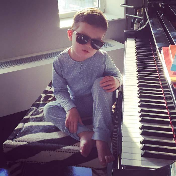 King of cool! Ivanka and Jared's eldest son Joseph pulled out his best pose to show off his brand new sunglasses.