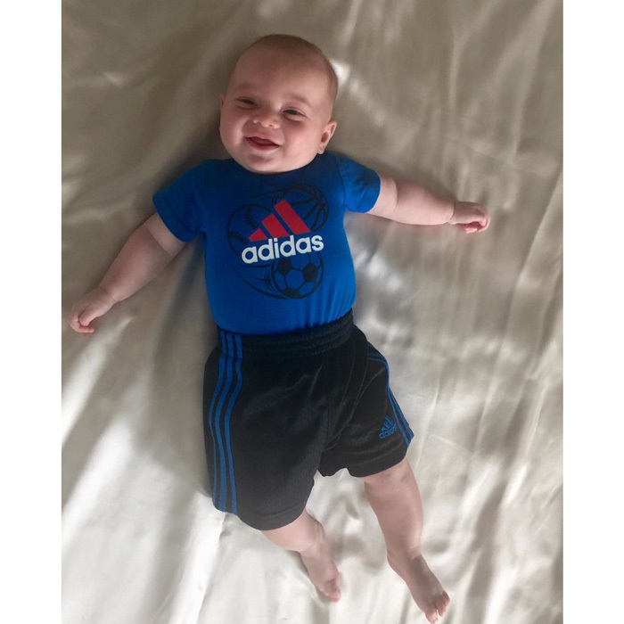 "Theodore is already a little athlete in the making. Ivanka posted a photo of her son in his sporty getup, writing, ""Is baby Theodore ready for the #weekend or soccer practice,"" adding a winky face emoji.