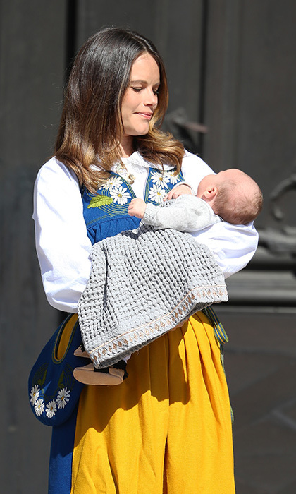 Princess Sofia returned to the town for her royal duties. 