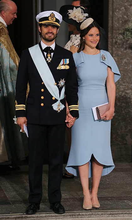 Prince Carl Philip and Princess Sofia met at a mutual friend's lunch. 