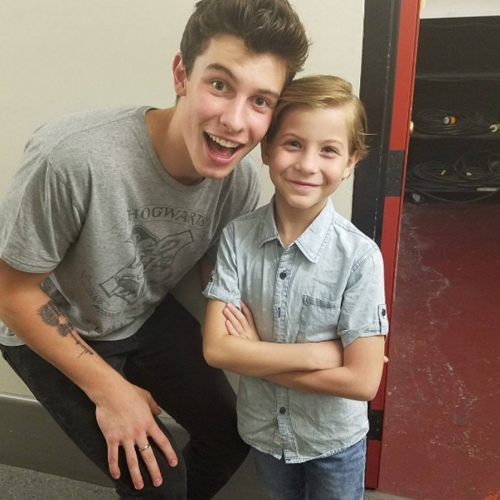 "Who is the bigger fan?! Jacob attended singer Shawn Mendes' show in Vancouver marking the adorable actor's first time at a concert. Sharing a photo of the encounter he wrote, ""@ShawnMendes just told me he was a big fan of me, but I am a bigger fan of him! #TwoCoolCanadians #MyFirstConcert #TwoHarryPotterNuts.""