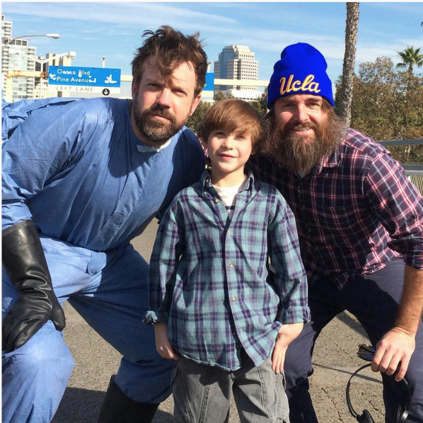 "Look out 1D, there's a new boy band in town. The <i>Room</i> star shared this snap of himself along with Jason Sudeikis and Will Forte taken on the set of <i>Last Man on Earth</i>. ""We are starting a new boy band!"" he captioned the post.