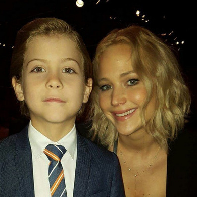 The tot-sized actor became acquainted with Academy Award-winner Jennifer Lawrence at the 2016 Oscars nominees lunch.