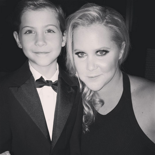 "Jacob has also found a fan in Jennifer's BFF Amy Schumer. The tiny actor publicly thanked the <i>Trainwreck</i> star when she came to his rescue at the 2016 Governors Awards. He said, ""@amyschumer Thanks for helping me tie my shoes tonight, so I didn't trip and break my face!""