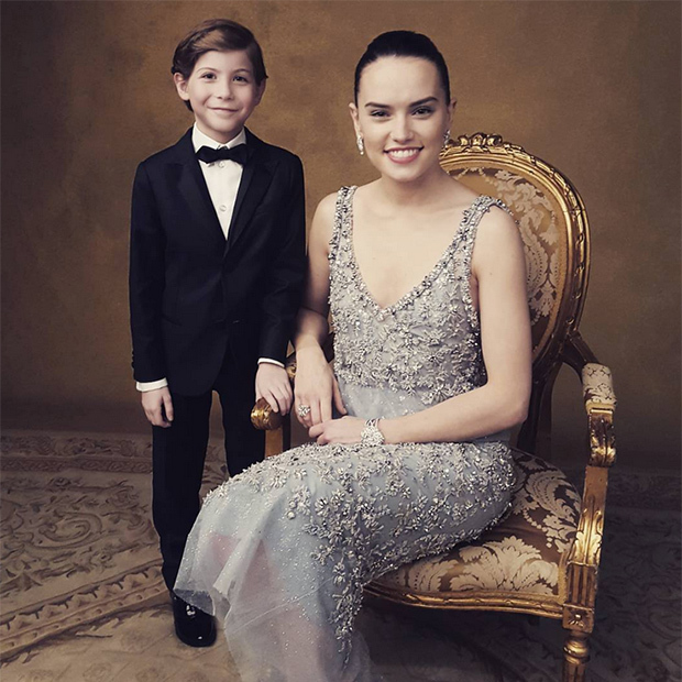 """Met #Rey, she is awesome, but @daisyridley is even cooler! #oscars #roomthemovie #starwars,"" wrote Jacob on Instagram. 