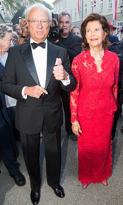 Queen Silvia of Sweden.<br>
