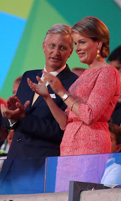 Queen Mathilde at the Olympic Opening Ceremony.<br>