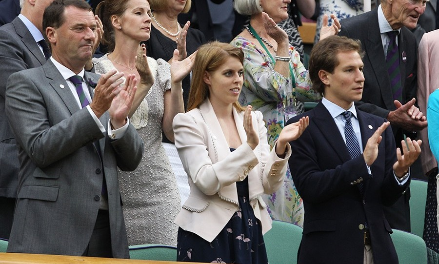 The sporty pair often watch Wimbledon together from the royal box. (Photo: Getty Images)