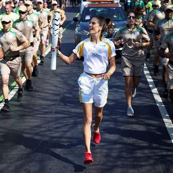"<p>""Today it was an honor to carry the Olympic torch!!! I'm so proud and grateful to be Brazilian and to represent my country !!!!"" Alessandra wrote.