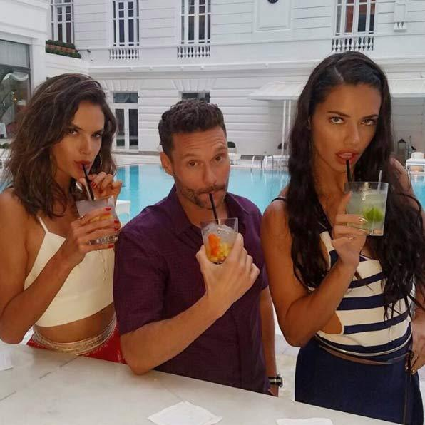 <p>Alessandra is working as a correspondent for NBC during the games, alongside fellow Victoria's Secret model Adriana Lima.