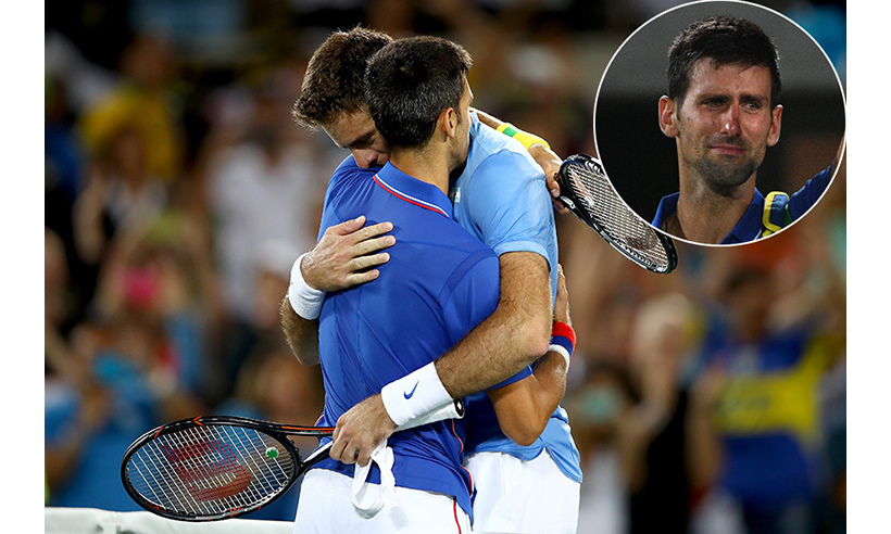 Novak Djokovic was in tears as he made a shock exit in the first round of the Olympic men's singles at the hands of Juan Martin del Potro. Juan, who is ranked 141st in the world after two years of injury problems, beat the world number one 7-6 (7-4) 7-6 (7-2) – even with a shaky start to his Olympic campaign.