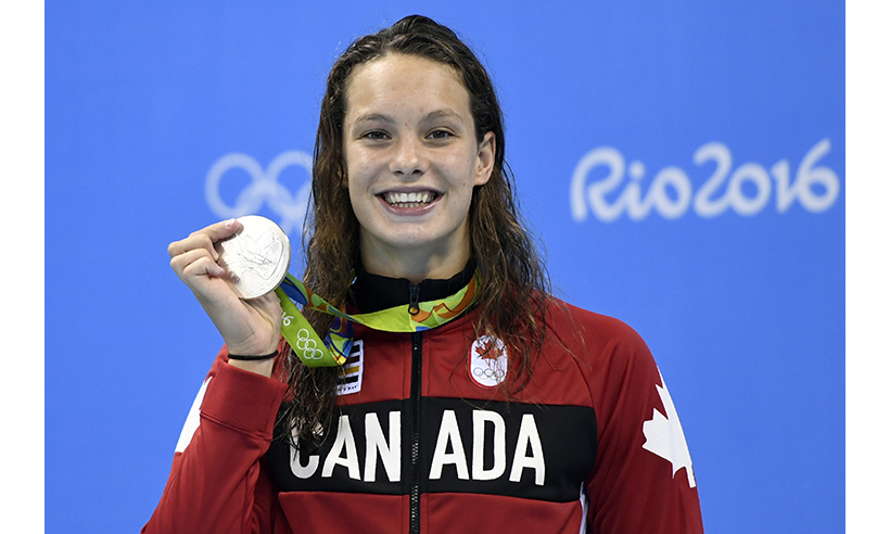 Fresh off her bronze medal performance with the Canadian women's  4x100 freestyle relay team on Saturday, Toronto native Penny Oleksiak added a silver medal to her collection on Sunday. 