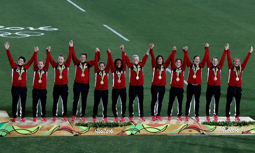 The Canadian women's rugby sevens team made history on Monday when they captured Canada's first-ever medal in the sport. The ladies defeated Great Britain to take home the bronze. 