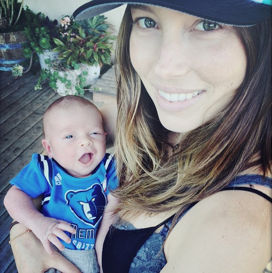 <p>Go Blue! Justin Timberlake shared the first image of his and Jessica Biel's son Silas supporting the home team!