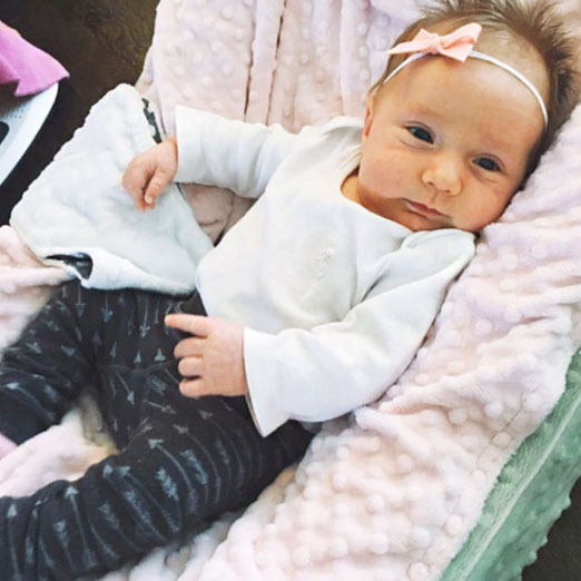 Here she is! Kristin Cavallari shared an adorable first snapshot of her and Jay Cutler's baby girl Saylor James on her app. The little one made her introduction to the world on November 23, 2015.