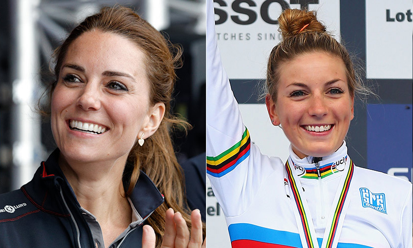 Duchess Kate has a lookalike competing at Rio 2016 – 24-year-old French cyclist Pauline Ferrand-Prevot. Fans were quick to notice the similarities in their bone structure, right down to the duo's cute dimples. Accomplished Pauline has already made a name for herself aside from her Olympian status as the first person ever in the history of cycling to hold the world road title, world cyclo-cross title and world mountain bike title at the same time.  
